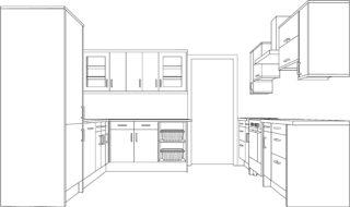 kitchen worktop plan